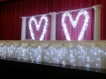crystal backdrop & skirting